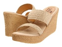 Sbicca Vibe Natural Wedge Shoes Beige