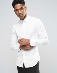 Sisley Shirt In Slim Fit White