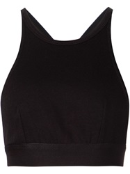 T By Alexander Wang Cross Back Sports Bra Black