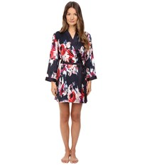 Kate Spade Charmeuse Robe Blurry Floral
