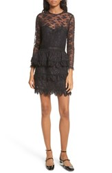 The Kooples Women's Floral Lace Dress Black