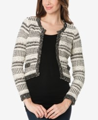 A Pea In The Pod Maternity Open Front Cardigan Black Ivory