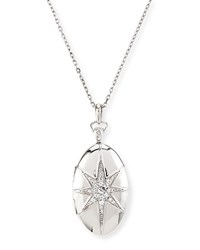 White Sapphire Star Locket Necklace Monica Rich Kosann Silver
