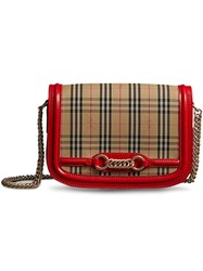 Burberry The 1983 Check Link Shoulder Bag Yellow And Orange