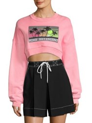 Alexander Wang Printed Cropped Sweatshirt Electric