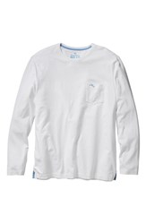 Men's Big And Tall Tommy Bahama 'Bali Skyline' Long Sleeve Pima Cotton T Shirt White