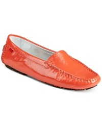 Marc Joseph New York Manhasset Loafer Flats Women's Shoes Coral Patent