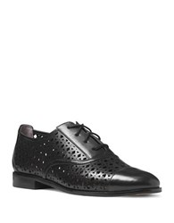 Michael Michael Kors Sunny Perforated Leather Oxfords Black