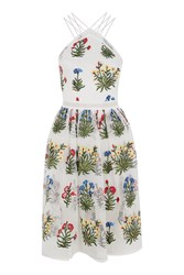 Rare Floral Embroidered Prom Dress By White
