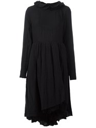 Aleksandr Manamis Ruffle Collar Dress Black