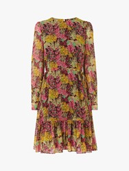 Lk Bennett L.K.Bennett Dakota Floral Dress Burgundy