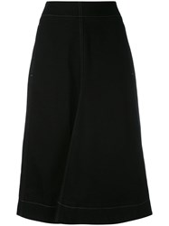 Christophe Lemaire A Line Denim Skirt Women Cotton 38 Black