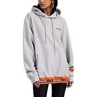 Heron Preston Handle With Care Cotton Terry Hoodie Gray
