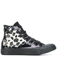 Converse 'All Star' Sequin Hi Top Sneakers Black