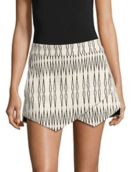 Design Lab Lord And Taylor Textured Wrap Front Skort Ivory
