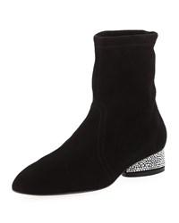 Stuart Weitzman Flash Sock 30Mm Booties Black