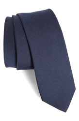 The Tie Bar 'S Solid Wool Blend Skinny Navy