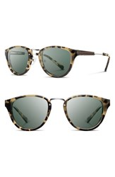 Women's Shwood 'Ainsworth' 49Mm Acetate And Wood Sunglasses Vintage Tort Silver G15