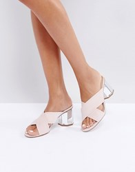 Miss Selfridge Hexagon Mule Pink