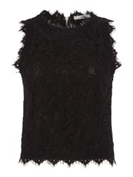 Replay Sleeveless Lace Top Black