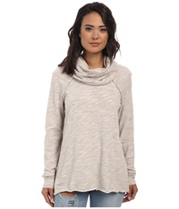 Free People Cocoon Cowl Pullover Oatmeal Women's Long Sleeve Pullover Brown