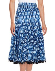 Context Tie Dye Crinkle Skirt Night Eclipse