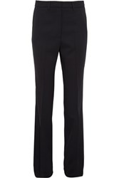 Bottega Veneta Wool Blend Slim Leg Pants Midnight Blue