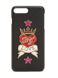 Dolce And Gabbana Love Leather Iphone 8 Plus Cover Black