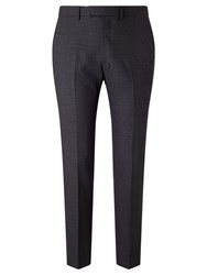 John Lewis Kin By Arcola Textured Slim Fit Trousers Charcoal