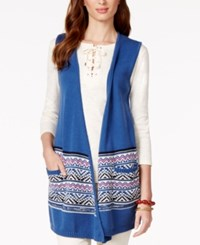 American Living Printed Cardigan Sweater Vest Only At Macy's