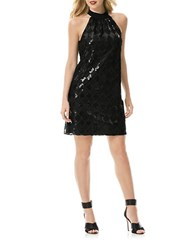 Laundry By Shelli Segal Sequined Check Dress Black