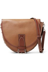 J.W.Anderson Jw Anderson Bike Lace Up Smooth And Textured Leather Shoulder Bag Tan