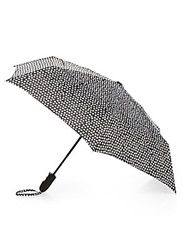 Shedrain Polka Dot Foldable Umbrella Black White