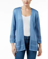 Jm Collection Open Knit Cardigan Only At Macy's Quiet Harbor