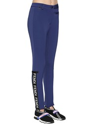 Fendi Logo Stirrup Tech And Wool Ski Pants Blue