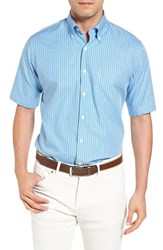 Peter Millar Men's Summertime Check Regular Fit Short Sleeve Sport Shirt