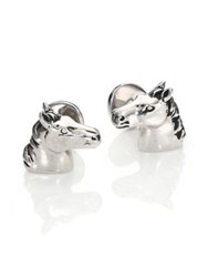Robin Rotenier Sterling Silver Horse Cuff Links