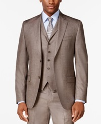 Sean John Brown Stepweave Classic Fit Jacket