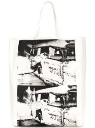 Calvin Klein 205W39nyc Printed Tote Bag White