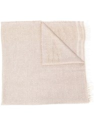 Fabiana Filippi Striped Scarf Neutrals