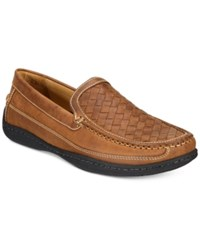 Johnston And Murphy Men's Fowler Woven Venetian Loafers Men's Shoes Tan