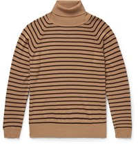 Marc Jacobs Striped Wool Rollneck Sweater Brown