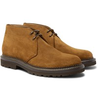 Brunello Cucinelli Storm Welted Suede Chukka Boots Tan