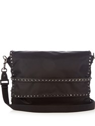 Valentino Rockstud Nylon Messenger Bag Black