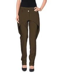 Oblique Casual Pants Military Green