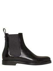 Valentino Stars Print Leather Chelsea Boots