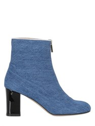 Camilla Elphick 75Mm Zip Me Up Denim Cropped Boots