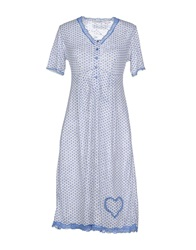 Twin Set Lingerie Nightgowns Pastel Blue