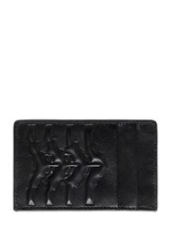 Alexander Mcqueen Rib Cage Embossed Leather Card Holder