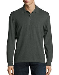 Nautica Slim Fit Long Sleeve Polo Moss Heather